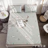 夏天床上涼席1.8m床ins冰絲席1.5米1.2單人學生宿舍折疊席子卡通igo   伊鞋本鋪