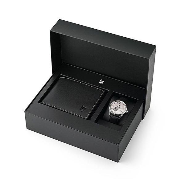 【lip】Himalaya時尚黑色機械皮革腕錶x真皮配件套組-質感黑/670102/台灣總代理公司貨享兩年保固