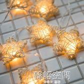 臥室五角星led小彩燈裝飾燈小燈泡串燈星星燈閃燈滿天星燈串浪漫 韓語空間