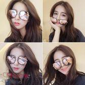 墨鏡女潮明星同款眼鏡2018新款圓形彩色太陽鏡女圓臉韓國復古眼鏡【奇貨居】