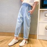 薄款夏裝兒童寬鬆休閒哈倫夏長褲女童牛仔褲【聚可愛】