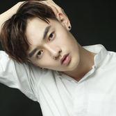S925銀耳釘男氣質韓國個性韓版單只潮男街頭潮人黑色方形耳環學生