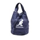 Kangol 托特包 Tote Bag 藍 白 女款 袋鼠 抽繩設計 水桶包 側背包【ACS】 6925300787