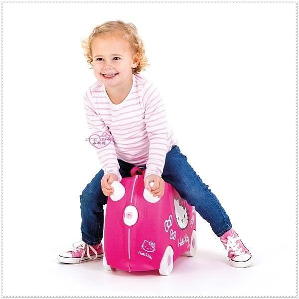 ♥小花花日本精品♥Hello Kitty 英國Trunki大臉兒童行李箱 登機箱 旅行箱可拉著走、騎著走
