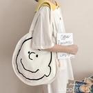 熱賣帆布包 ANDCICI韓版設計感學生書包snoppy帆布包女側背簡筆畫大購物袋 coco