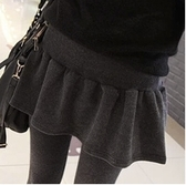 假兩件打底褲 春秋冬季新品純棉假兩件打底褲裙褲外穿秋季網紅款女帶裙子連褲裙-Ballet朵朵