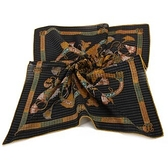 Christian Dior巴洛克風字母裝飾領帕巾(黑) 989036-3