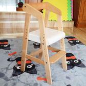 年末鉅惠 寶寶餐椅實木家用座椅子兒童板凳可升降幼兒BB小孩吃飯餐桌椅木質