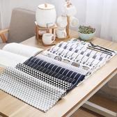 桌巾 棉麻布藝擺拍日式桌巾簡約茶巾餐桌餐巾蓋拍照背景布長方形全棉質餐墊
