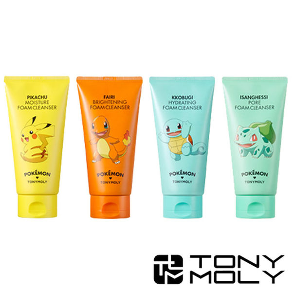 韓國 TONYMOLY × Pokemon 寶可夢 洗面乳 150ml 潔面乳 神奇寶貝 小火龍 妙蛙種子 傑尼龜 皮卡丘