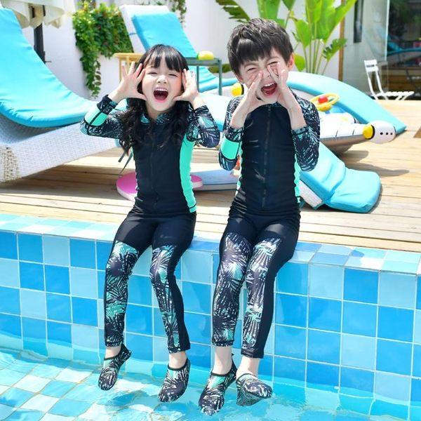 水母衣兒童防曬分體連體泳衣男女潛水服長袖長褲保暖浮潛水母衣游泳溫泉聖誕狂歡好康八折