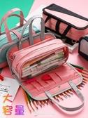 筆袋 多功能大容量筆袋可手提簡約ins少女心中小學生文具袋生創意 東京衣秀