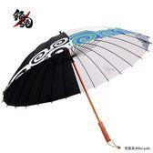 雨傘直柄超大雙人傘男女動漫銀魂傘創意洞爺湖痛傘24骨加固防風傘  百搭潮品
