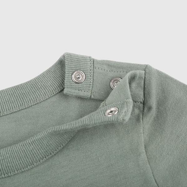Gap嬰兒 純棉立體動物短袖包屁衣 691273-綠色