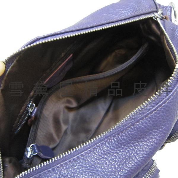 ~雪黛屋~ITALI DUCK 水餃包中容量專櫃肩側肩背斜側背100%軟牛皮革多袋層台灣製造品質保證ID3312