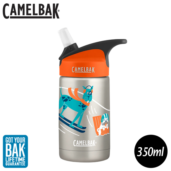 【CamelBak 美國 350ml eddy兒童吸管保冰/溫水瓶《雪橇狗狗》】2099105140/兒童水壺
