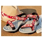 【南紡購物中心】【ATUNAS 歐都納】女款暢遊天地減震織帶涼鞋(A1GCCC03珊瑚紅)