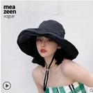 帽子 女防紫外線日系大檐防曬帽大沿遮臉帽韓版百搭大檐帽漁夫帽