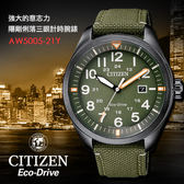 【公司貨2年保固】CITIZEN 星辰 Eco-Drive 光動能男錶 42mm/防水/軍錶/AW5005-21Y