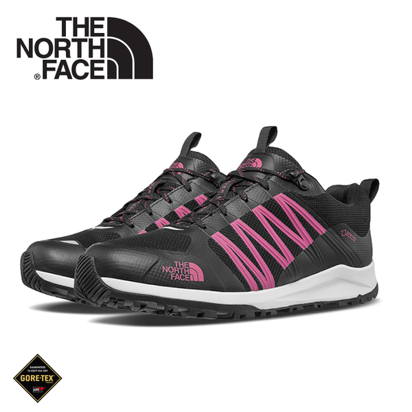 【The North Face 美國 女 GORE-TEX徒步鞋《黑/粉》】469U/健行鞋/防水/越野鞋/健行鞋/跑步/路跑