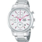 ALBA 雅柏 夢幻旅程三眼計時晶鑽手錶-銀 YM92-X258S(AF8T13X1)