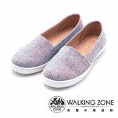 WALKING ZONE 日系感休閒平底 女鞋-粉紫(另有黑、粉紅)