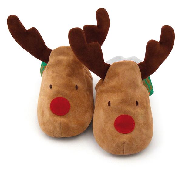 英國 Funky Feet 手工學步鞋 室內鞋 小麋鹿 6-24M (聖誕交換禮物)