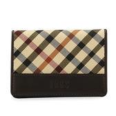 DAKS 經典斜格紋證件夾名片夾信用卡夾(咖啡色)230125-02