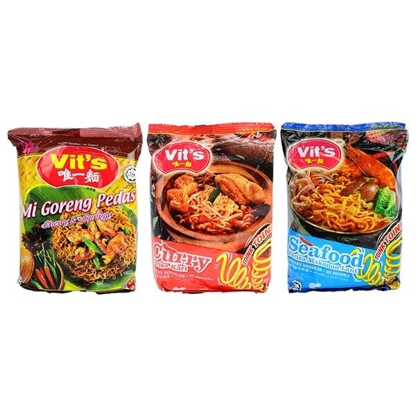 馬來西亞 Vit\'\'s 唯一麵 乾拌麵/湯麵(78g/88g) 6款可選【小三美日】團購/泡麵