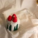 香薰蠟燭 ins草莓漿果甜品香薰蠟燭小蛋糕圣誕節日生日禮物情人節閨蜜-三山一舍