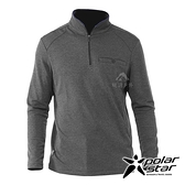 【PolarStar】男 排汗立領長袖上衣『炭灰』P20221 上衣 休閒 戶外 登山 吸濕排汗 透氣 長袖