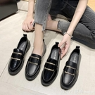 牛津鞋 英倫風小皮鞋夏季新款2020潮鞋百搭皮鞋圓頭平底單鞋樂福鞋鞋子女 618購物節