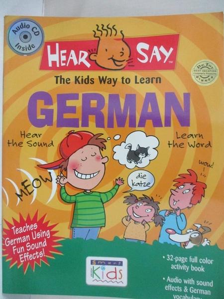 【書寶二手書T1/語言學習_KF1】Hear-Say German_Rivera, Donald S.