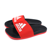 adidas 拖鞋 戶外 紅/黑 男鞋 F34722 no834
