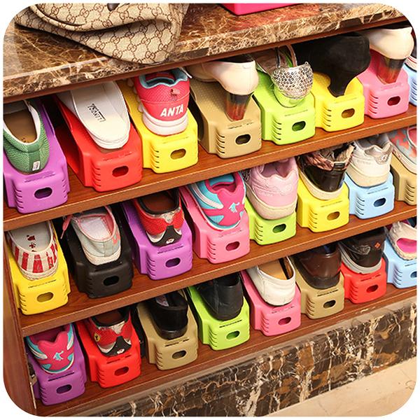 [超豐國際]創意宿舍小型鞋柜收納架鞋架子 家用簡易塑料鞋子收納鞋