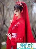漢服語購胭脂漢服女中國風古裝超仙花嫁婚服學生古風刺繡春季 【海闊天空】