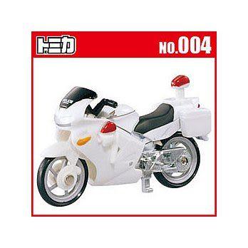 TOMICA 多美小汽車 NO. 004 本田白色摩托車(車輪可轉動/車頭可轉動方向)《TAKARA TOMY》
