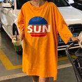 原宿韓版學生潮大碼半袖上衣 夏季中長款圓領短袖