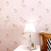無紡布牆紙韓式紫粉色小花溫馨臥室客廳床頭背景牆BLNZ 免運