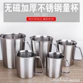量杯 加厚304不銹鋼量杯奶茶咖啡量杯帶刻度2拉花杯實驗杯  蜜拉貝爾