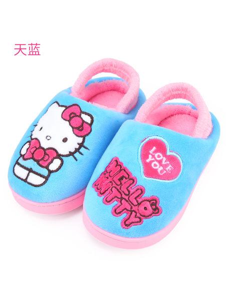 Hello Kitty兒童棉拖鞋女童冬親子室內鞋寶寶居家鞋可愛保暖拖鞋