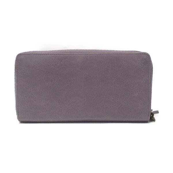 BALENCIAGA 巴黎世家 粉紫色山羊皮ㄇ字型拉鍊長夾 253036 【二手名牌BRAND OFF】