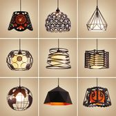 三頭創意個性單頭餐廳燈工業風過道吧台餐吊燈具  igo