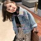 女童外套秋裝新款兒童韓版洋氣時髦上衣寶寶休閑牛仔衣潮【聚可愛】