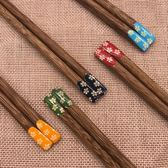 【中秋大降價】家用實木高檔紅木筷子家庭套裝10雙定制刻字雞翅木無漆無蠟禮品