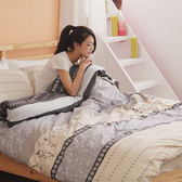 [Snug Nights]#U042#細磨毛天絲絨6x6.2尺雙人加大床包被套四件組-台灣製