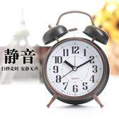 歐式創意夜光小鬧鐘個性靜音臥室懶人學生床頭多功能台鐘時鐘鬧鈴