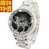 鑽錶-經典款自信新品女腕錶2色5j62[巴黎精品]