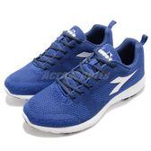 DIADORA 慢跑鞋 X Run Light 藍 白 輕跑鞋 透氣網布 吸震 EVA中底 運動鞋 男鞋【PUMP306】 DA172966C4738