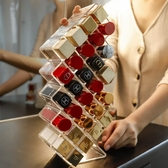 收納架子多格收納盒化妝品桌面置物架透明【聚可愛】